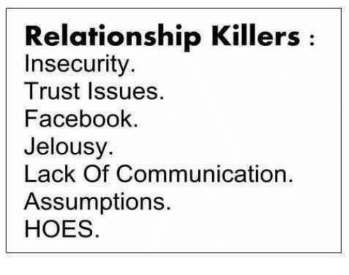 relationship trust issues and insecurity