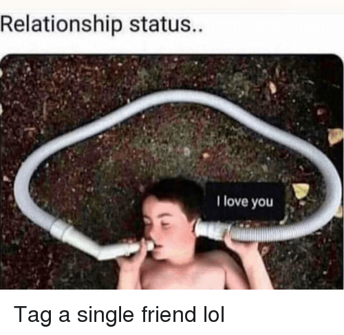 Relationship Status: Relationship status  I love you Tag a single friend lol