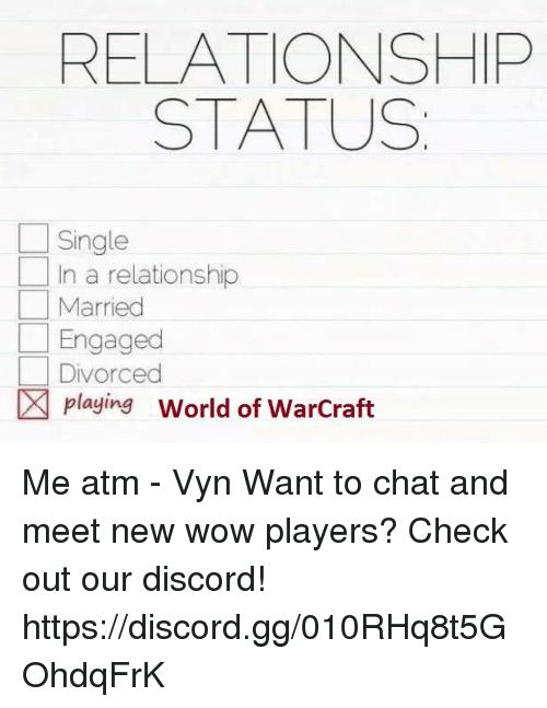Dating for world of warcraft players