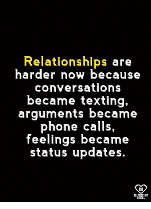 Premise Indicator Words: Relationships Are Harder Now Because Conversations Became