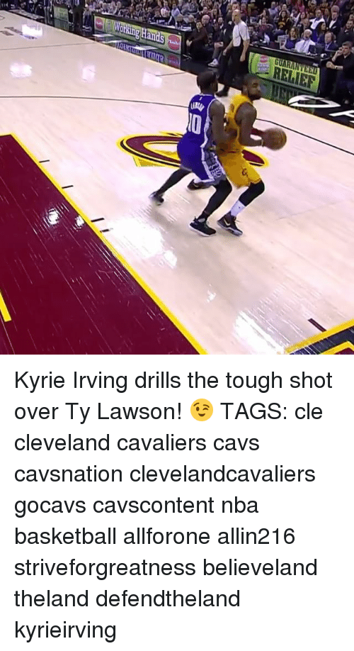 Cavs, Cleveland Cavaliers, and Kyrie Irving: RELIEF Kyrie Irving drills the tough shot over Ty Lawson! 😉 TAGS: cle cleveland cavaliers cavs cavsnation clevelandcavaliers gocavs cavscontent nba basketball allforone allin216 striveforgreatness believeland theland defendtheland kyrieirving