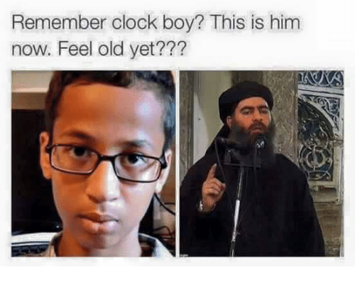 Clock Boy: Remember clock boy? This is him  now. Feel old yet???