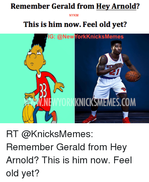 Remember Gerald From Hey Arnold? NYKM This Is Him Now Feel ...
