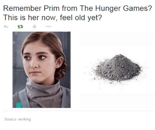 Memes, Game, and Games: Remember Prim from he Hunger Games?  This is her now, feel old yet?  Source: winking