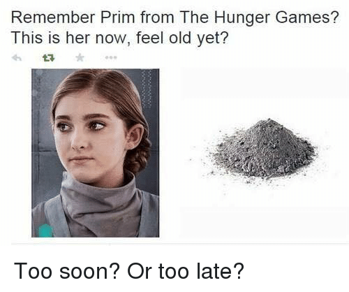 the hunger game: Remember Prim from The Hunger Games?  This is her now, feel old yet? Too soon? Or too late?