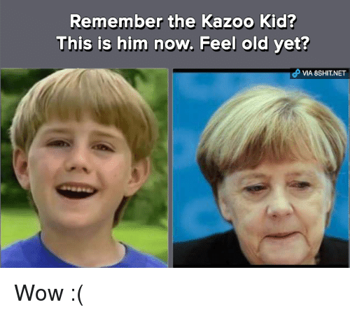 The Kazoo Kid: Remember the Kazoo Kid?  This is him now. Feel old yet? Wow :(