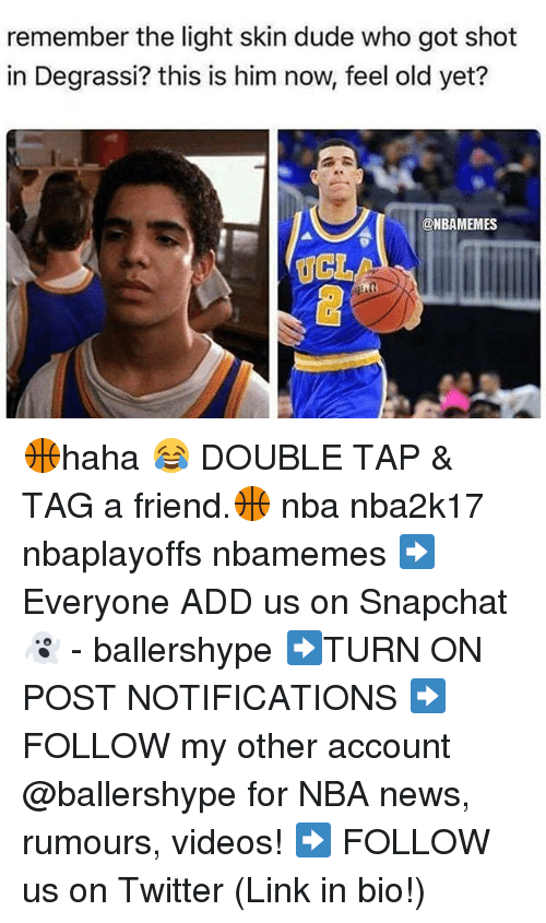 Degrassi: remember the light skin dude who got shot  in Degrassi? this is him now, feel old yet?  @NBAMEMES  UCL 🏀haha 😂 DOUBLE TAP & TAG a friend.🏀 nba nba2k17 nbaplayoffs nbamemes ➡Everyone ADD us on Snapchat 👻 - ballershype ➡TURN ON POST NOTIFICATIONS ➡ FOLLOW my other account @ballershype for NBA news, rumours, videos! ➡ FOLLOW us on Twitter (Link in bio!)