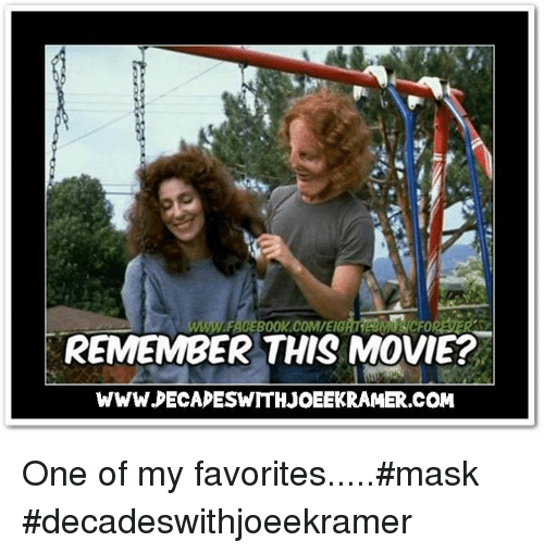deca: REMEMBER THIS MOVIE?  WWW DECA ESWTTHJOEEKRAMER.COM One of my favorites.....#mask #decadeswithjoeekramer