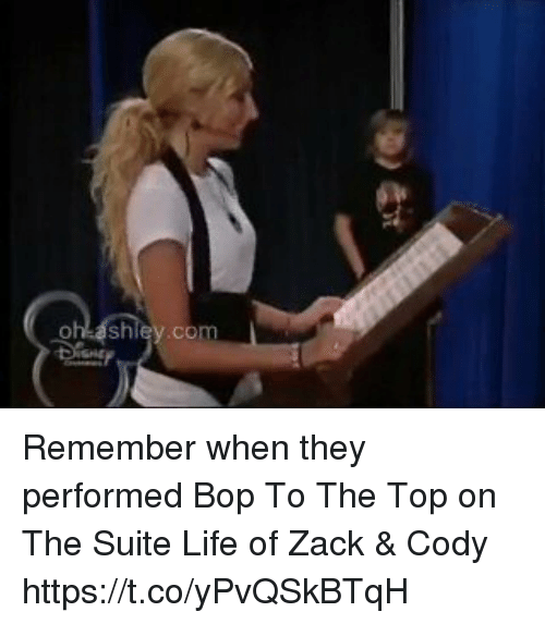 Life, Relatable, and Zack &: Remember when they performed Bop To The Top on The Suite Life of Zack & Cody https://t.co/yPvQSkBTqH