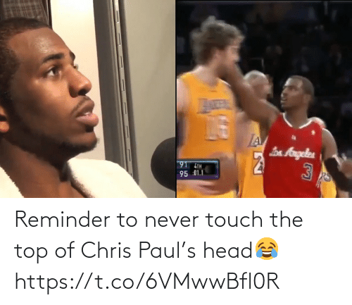 Chris Paul: Reminder to never touch the top of Chris Paul's head😂 https://t.co/6VMwwBfl0R