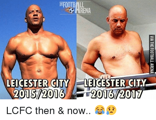 Lcfc: RENA  LEICESTER CITY LEICESTER CITY  2015 2016 LCFC then & now.. 😂😥