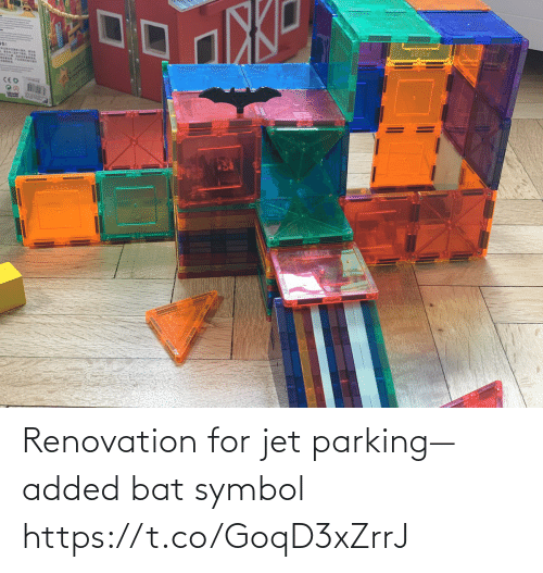 symbol: Renovation for jet parking—added bat symbol https://t.co/GoqD3xZrrJ