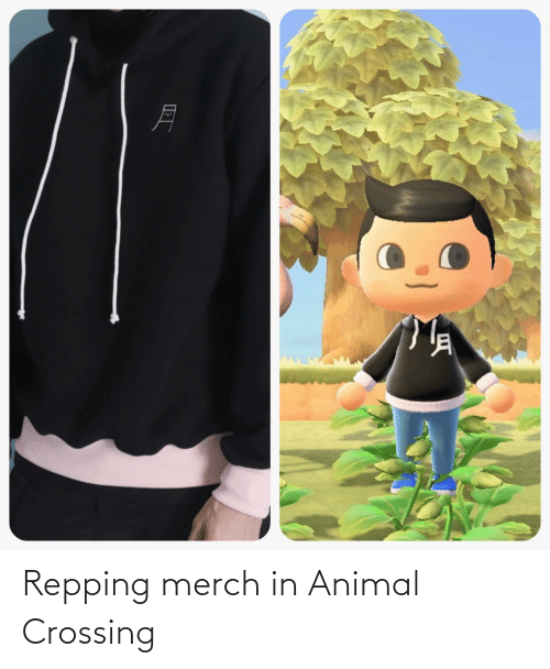 repping: Repping merch in Animal Crossing