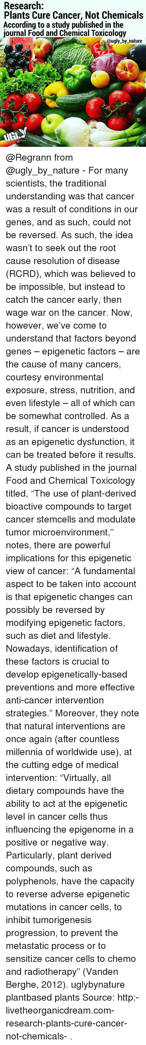 Research Plants Cure Cancer Not Chemicals According to a ...