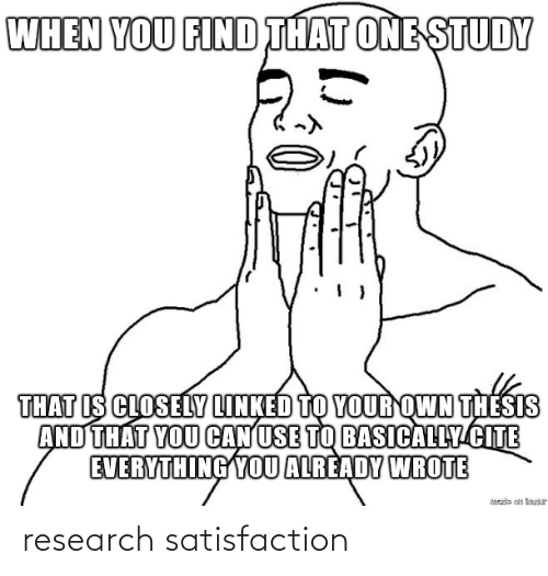 Research: research satisfaction