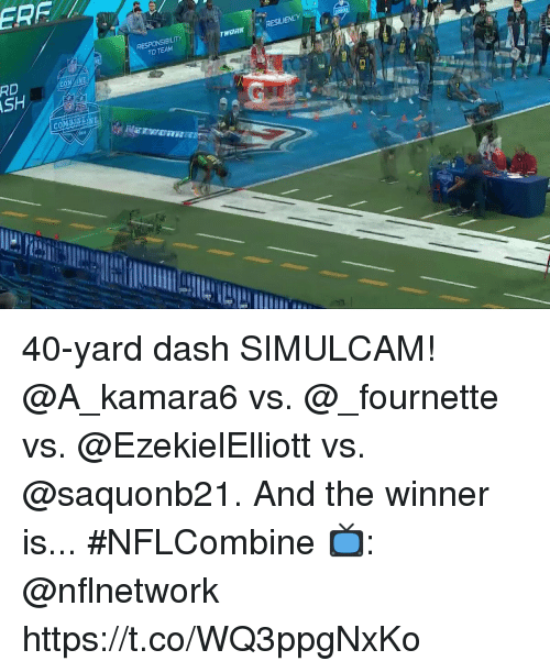 Memes, 🤖, and Dash: RESILIENCY  TO TEAM  RD 40-yard dash SIMULCAM!  @A_kamara6 vs. @_fournette vs. @EzekielElliott vs. @saquonb21.  And the winner is...  #NFLCombine  📺: @nflnetwork https://t.co/WQ3ppgNxKo