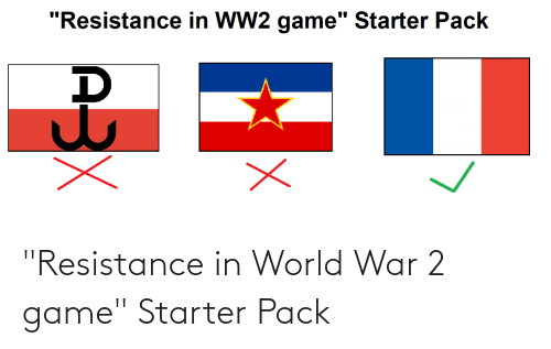 "World War 2: ""Resistance in World War 2 game"" Starter Pack"