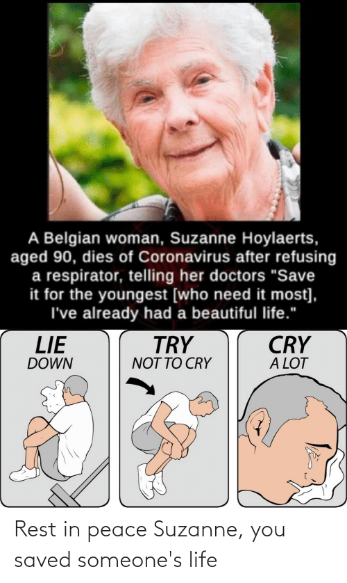 suzanne: Rest in peace Suzanne, you saved someone's life
