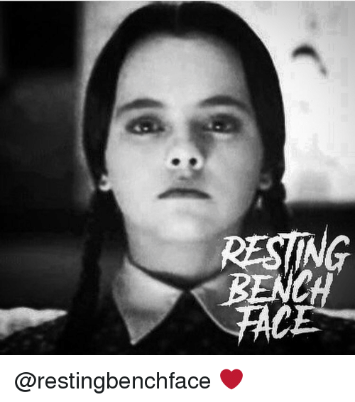 Memes, 🤖, and Bench: RESTING  BENCH @restingbenchface ❤️
