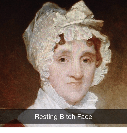 Classical Art and Facee: Resting Bitch Face