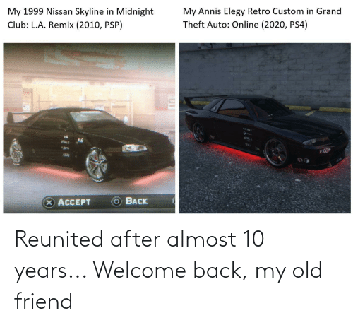 My Old Friend: Reunited after almost 10 years... Welcome back, my old friend