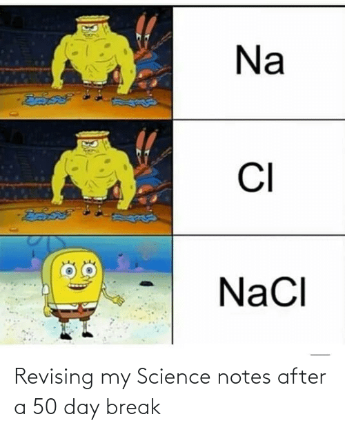 notes: Revising my Science notes after a 50 day break