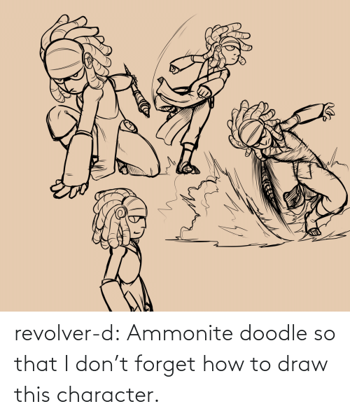 Doodle: revolver-d:    Ammonite doodle so that I don't forget how to draw this character.