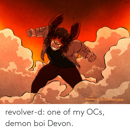 demon: revolver-d:  one of my OCs, demon boi Devon.