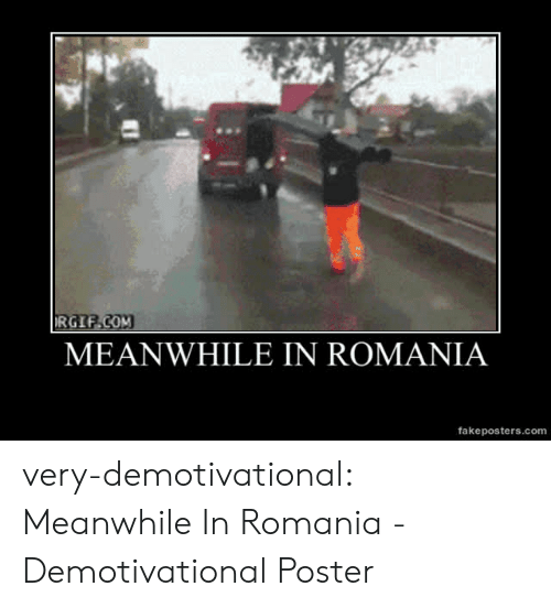 demotivational: RGIF.COM  MEANWHILE IN ROMANIA  fakeposters.com very-demotivational:  Meanwhile In Romania - Demotivational Poster