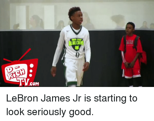 Blackpeopletwitter: RICH  .COM  BLUEtil LeBron James Jr is starting to look seriously good.