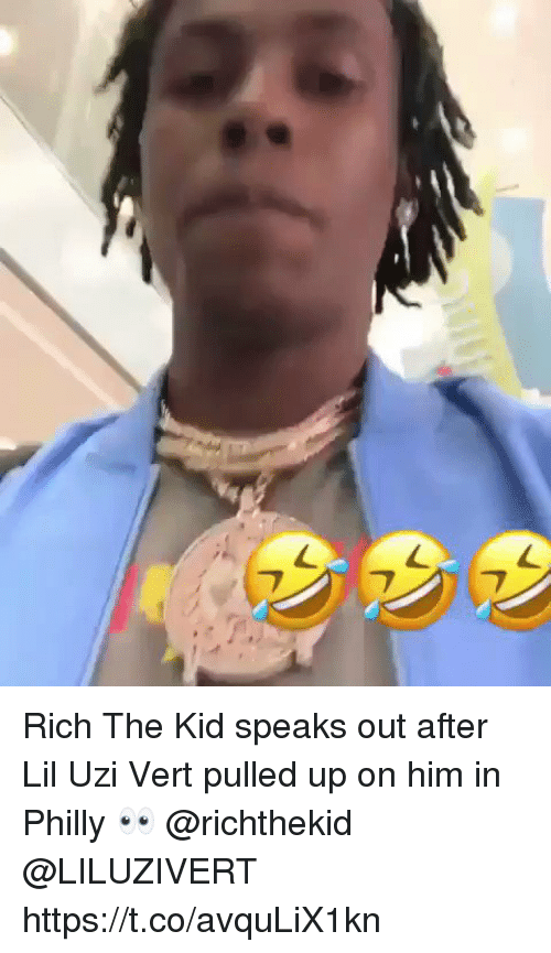 Liluzivert: Rich The Kid speaks out after Lil Uzi Vert pulled up on him in Philly 👀 @richthekid @LILUZIVERT https://t.co/avquLiX1kn