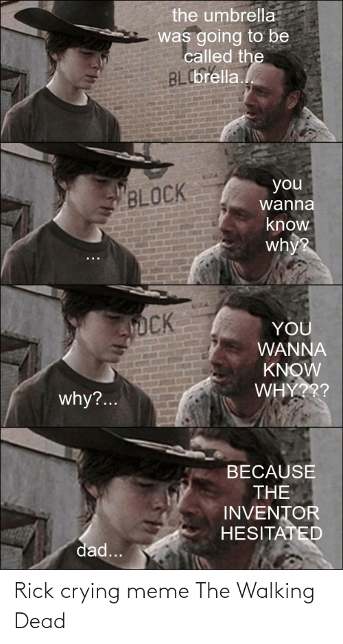 Crying Meme: Rick crying meme The Walking Dead
