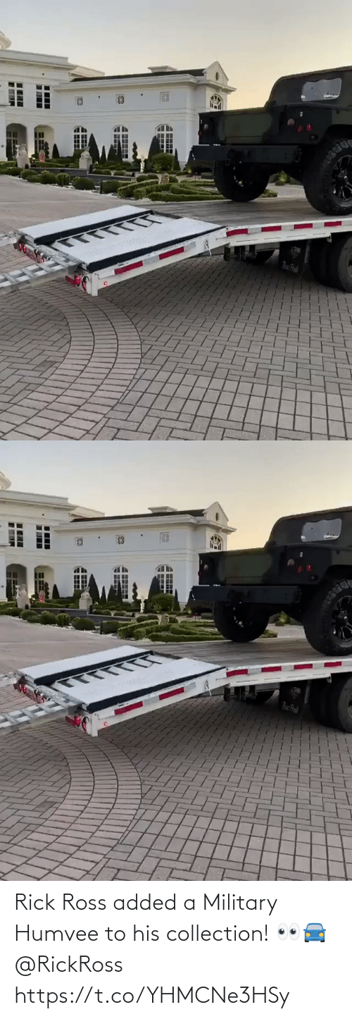ross: Rick Ross added a Military Humvee to his collection!  👀🚘  @RickRoss https://t.co/YHMCNe3HSy