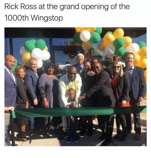 Nigs: Rick Ross at the grand opening of the  1000th Wingstop  NIG