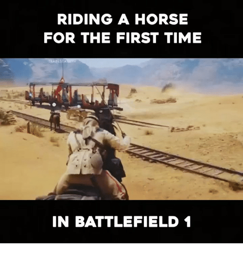 Battlefield: RIDING A HORSE  FOR THE FIRST TIME  IN BATTLEFIELD 1