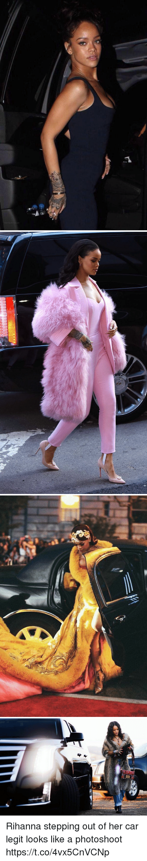 Legitably: Rihanna stepping out of her car legit looks like a photoshoot https://t.co/4vx5CnVCNp