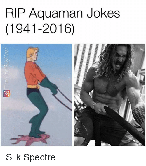 Memes, Jokes, and 🤖: RIP Aquaman Jokes  (1941-2016) Silk Spectre