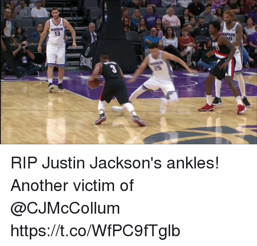 Memes, 🤖, and Another: RIP Justin Jackson's ankles! Another victim of @CJMcCollum https://t.co/WfPC9fTglb