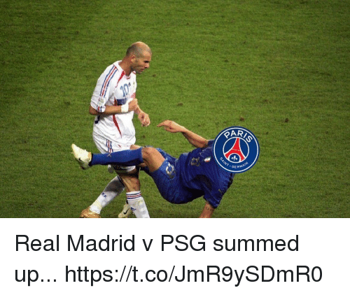 Real Madrid, Soccer, and Madrid: RIS  GERMA Real Madrid v PSG summed up... https://t.co/JmR9ySDmR0