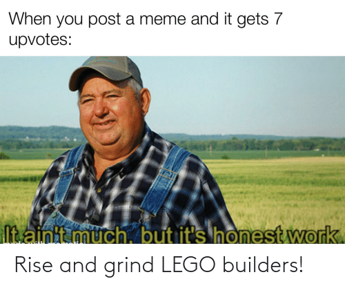 rise and grind: Rise and grind LEGO builders!