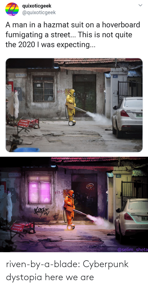 cyberpunk: riven-by-a-blade:  Cyberpunk dystopia here we are