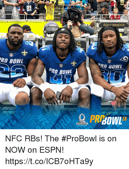 Espn, Memes, and Orlando: RO BOWL  PRO BOWL  NF  PRO BOWL  18  PRO BOWL  ORLANDO 2018 NFC RBs!  The #ProBowl is on NOW on ESPN! https://t.co/ICB7oHTa9y