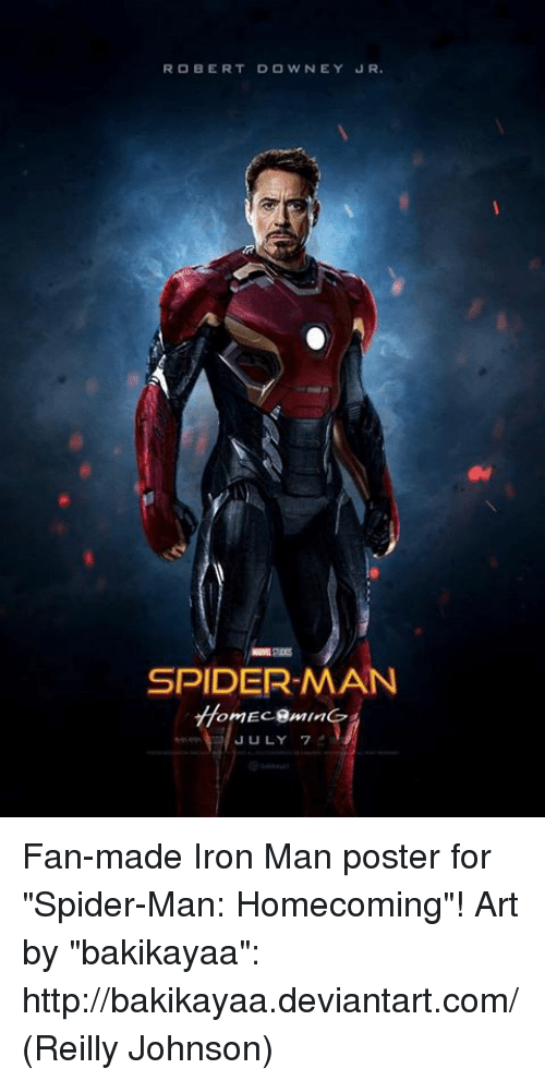 ROBERT DOWNEY JR SPIDER-MAN JULY 7 Fan-Made Iron Man ...