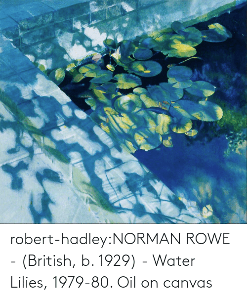 Water: robert-hadley:NORMAN ROWE - (British, b. 1929) - Water Lilies, 1979-80. Oil on canvas