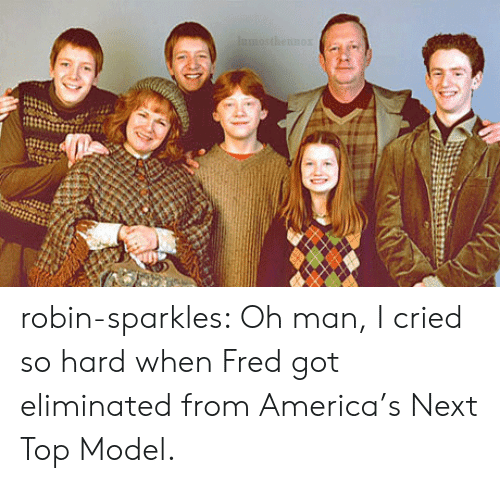 next top model: robin-sparkles:  Oh man, I cried so hard when Fred got eliminated from America's Next Top Model.
