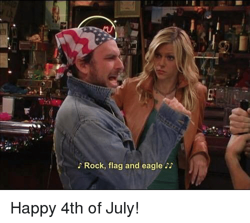 Memes, 4th of July, and Eagle: Rock, flag and eagle N Happy 4th of July!
