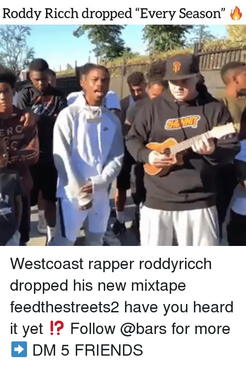 "Mixtape: Roddy Ricch dropped ""Every Season"" O  ERO Westcoast rapper roddyricch dropped his new mixtape feedthestreets2 have you heard it yet ⁉️ Follow @bars for more ➡️ DM 5 FRIENDS"