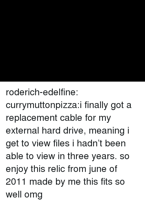 relic: roderich-edelfine:  currymuttonpizza:i finally got a replacement cable for my external hard drive, meaning i get to view files i hadn't been able to view in three years. so enjoy this relic from june of 2011 made by me this fits so well omg
