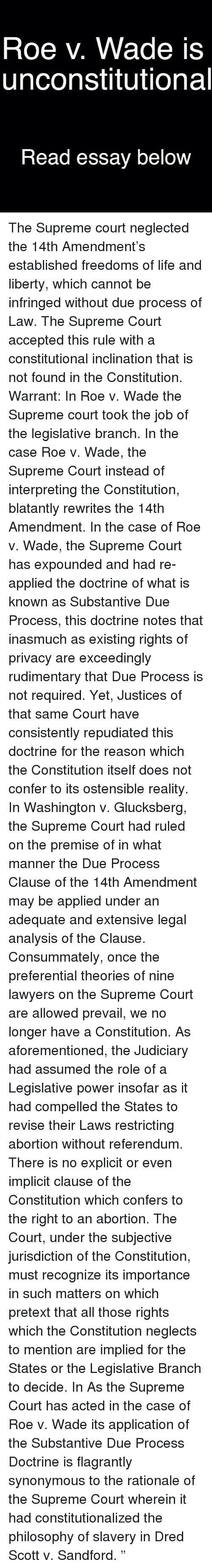 roe v wade is unconstitutional essay below the supreme court lawyer memes and supreme roe v wade is unconstitutional essay below