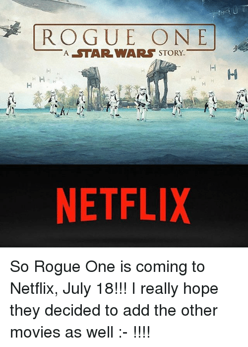 HOW TO WATCH ROGUE ONE ON NETFLIX